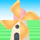 Cartoon Windmill Stock Photo