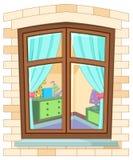 Cartoon window Stock Photos