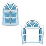 Cartoon windows stock photo
