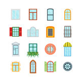 Cartoon Windows Set. Vector Stock Photography