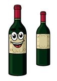 Cartoon wine bottle Stock Image