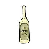 Cartoon wine bottle Royalty Free Stock Photo