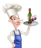 Cartoon Wine Chef Royalty Free Stock Photography