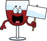 Cartoon Wine Sign Royalty Free Stock Photos