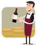 Cartoon Winemaker Royalty Free Stock Photo