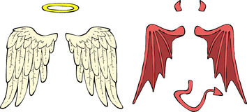 Cartoon wings Stock Image