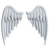 Cartoon wings in plasticine or clay style Stock Images
