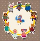 Cartoon winter animal card Stock Photos