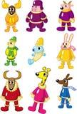 Cartoon winter animal icon Stock Image