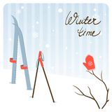 Cartoon winter background Royalty Free Stock Image