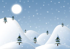 Cartoon winter background Royalty Free Stock Photography
