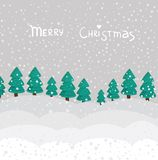 Cartoon winter background in vector Stock Images