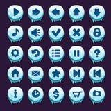 Cartoon  winter buttons set Stock Image