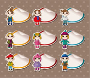 Free Cartoon Winter Child Stickers,Label Stock Photography - 20747742