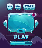 Cartoon winter game user interface Royalty Free Stock Images