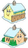 Cartoon winter houses Royalty Free Stock Image