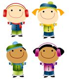 Cartoon Winter Kids Stock Photography
