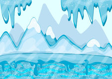 Cartoon winter landscape with iceberg and ice Stock Photography