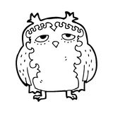 Cartoon wise old owl Royalty Free Stock Images