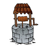 Cartoon wishing well vector illustration