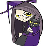 Cartoon witch Stock Image