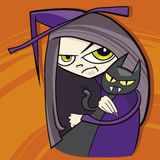 Cartoon witch Royalty Free Stock Images