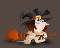 Cartoon Witch Royalty Free Stock Photography