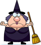 Cartoon Witch Angry Stock Photography