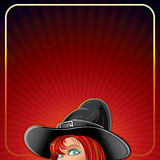 Cartoon Witch Background Stock Photography
