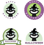 Cartoon Witch Cat Halloween Graphic Royalty Free Stock Image