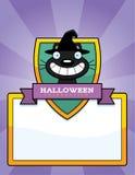 Cartoon Witch Cat Halloween Graphic Stock Photo