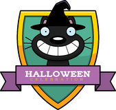 Cartoon Witch Cat Halloween Graphic Royalty Free Stock Images