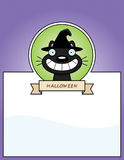 Cartoon Witch Cat Halloween Graphic Stock Photography