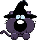 Cartoon Witch Cat Peeking Stock Photography
