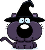 Cartoon Witch Cat Smiling Royalty Free Stock Images