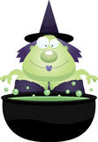 Cartoon Witch Cauldron Stock Photos