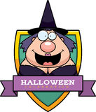 Cartoon Witch Halloween Graphic Royalty Free Stock Image