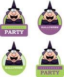 Cartoon Witch Halloween Graphic Stock Image