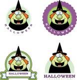 Cartoon Witch Halloween Graphic Stock Photo