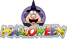 Cartoon Witch Halloween Graphic Stock Photography
