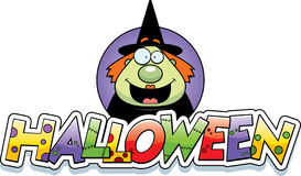 Cartoon Witch Halloween Graphic Royalty Free Stock Photo