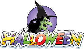 Cartoon Witch Halloween Graphic Royalty Free Stock Photos