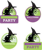 Cartoon Witch Halloween Graphic Stock Images