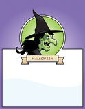 Cartoon Witch Halloween Graphic Royalty Free Stock Photography