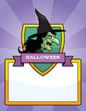 Cartoon Witch Halloween Graphic Royalty Free Stock Images