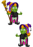 Cartoon Witch - Hands On Hips Royalty Free Stock Photo