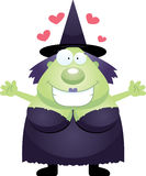 Cartoon Witch Hug Royalty Free Stock Photo
