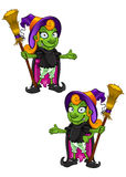Cartoon Witch - Presenting Royalty Free Stock Photo