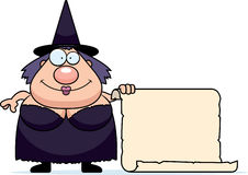 Cartoon Witch Sign Stock Photos