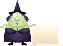 Cartoon Witch Sign Royalty Free Stock Photos
